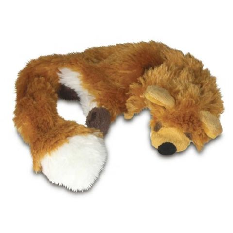 "DOG TOY RAGGY FOX STUFFING FREE 18-20"" SOFT PLUSH TOY"